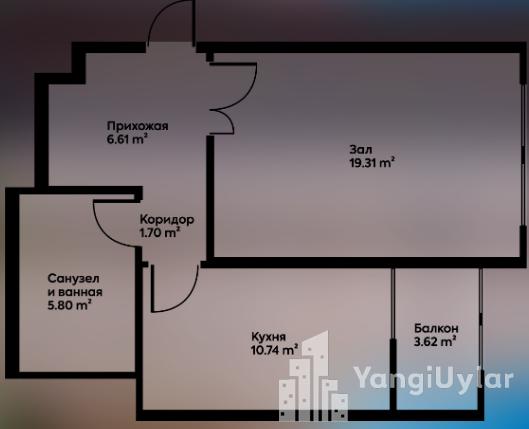 1 — комнатные