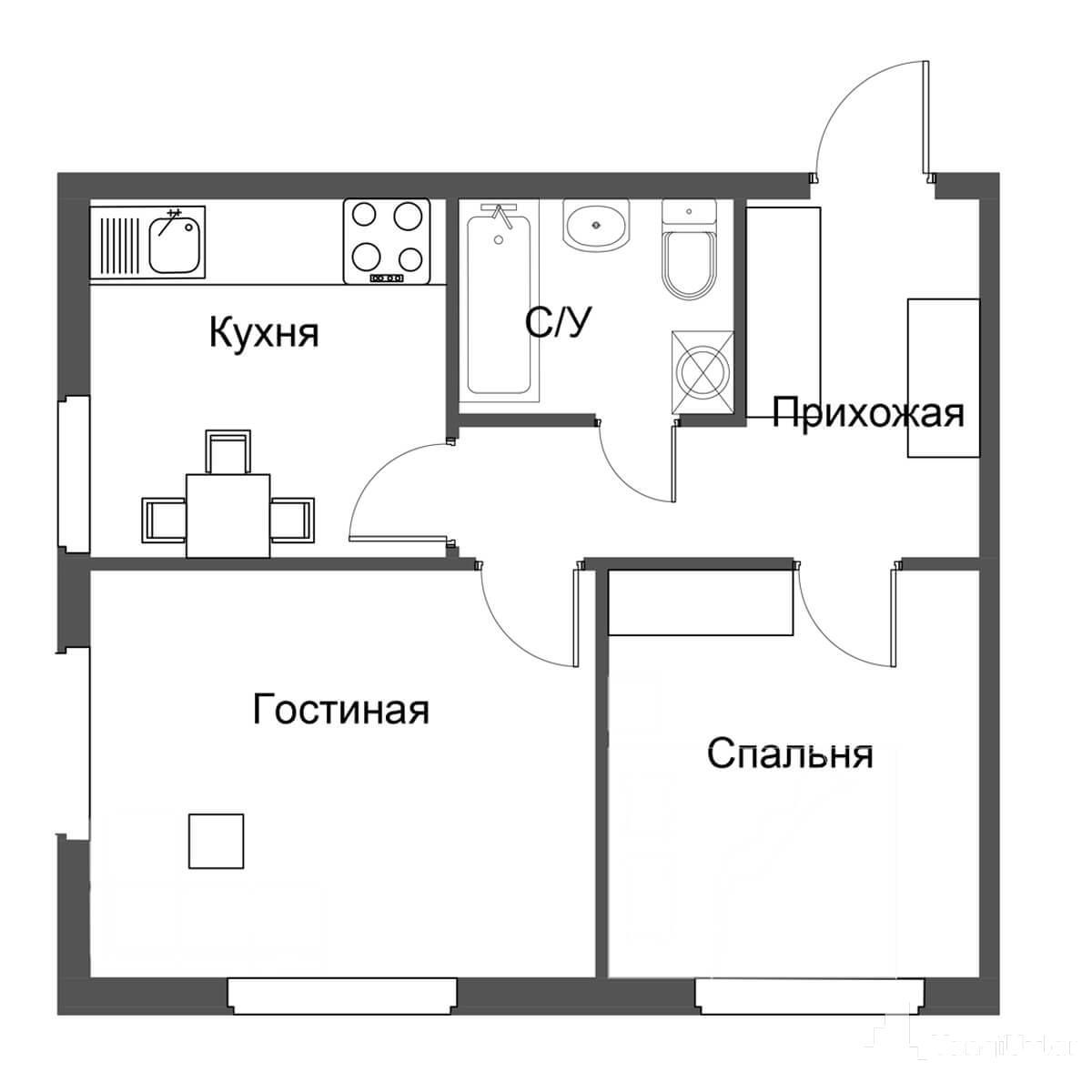 2 — комнатные