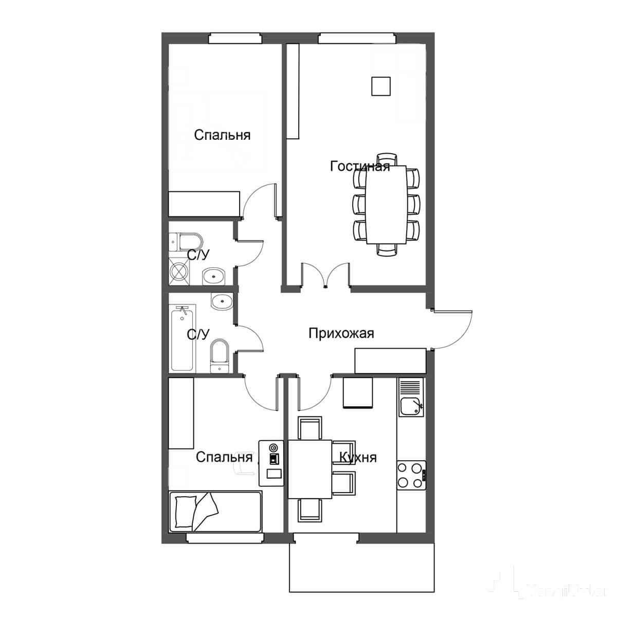 3 — комнатные