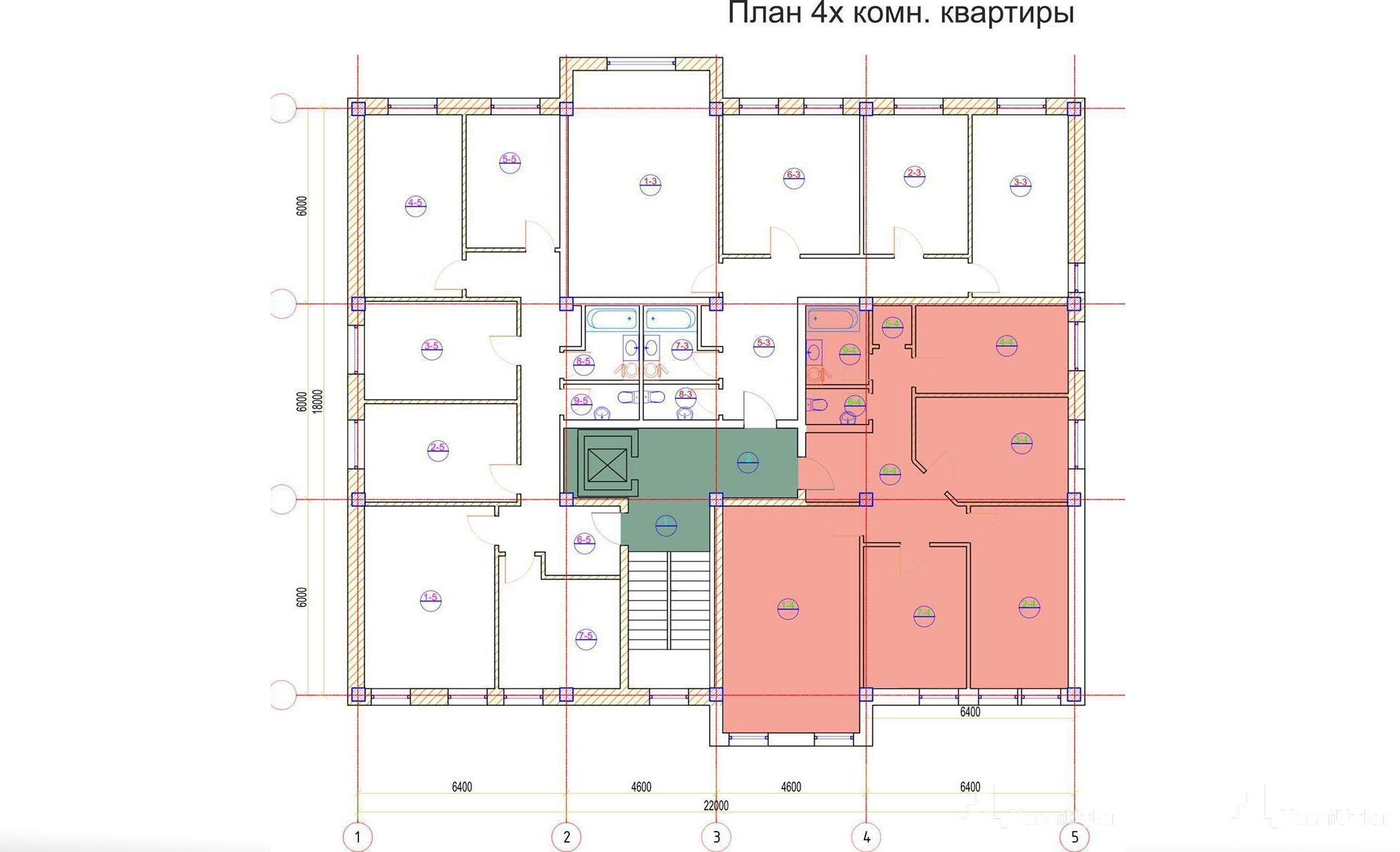 4 - комнатная